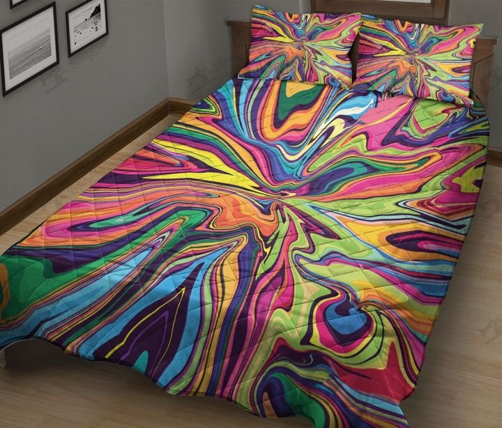 Psychedelic tie dye full printing quilt 4