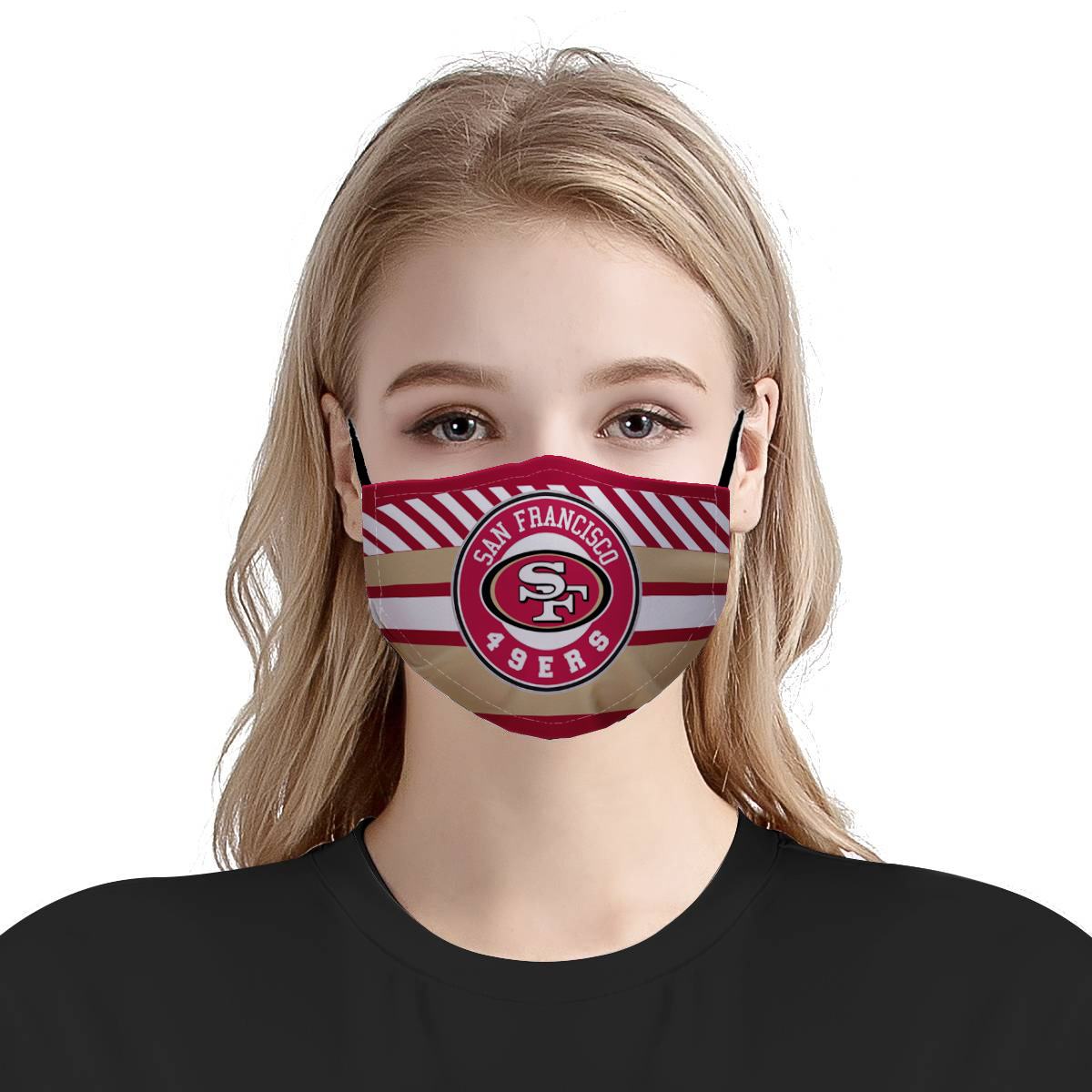 San francisco 49ers nfl anti pollution face mask 2