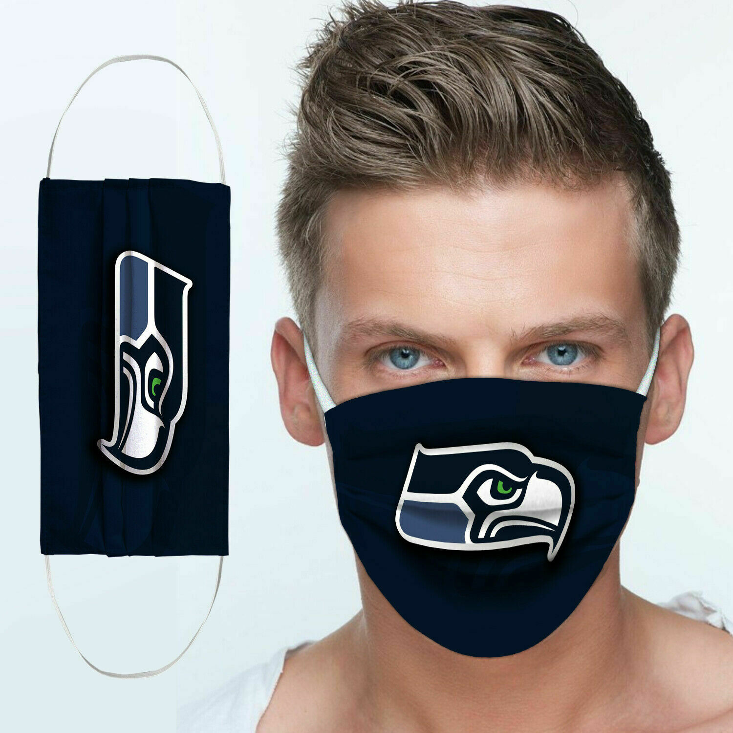 Seattle seahawks team anti pollution face mask 3