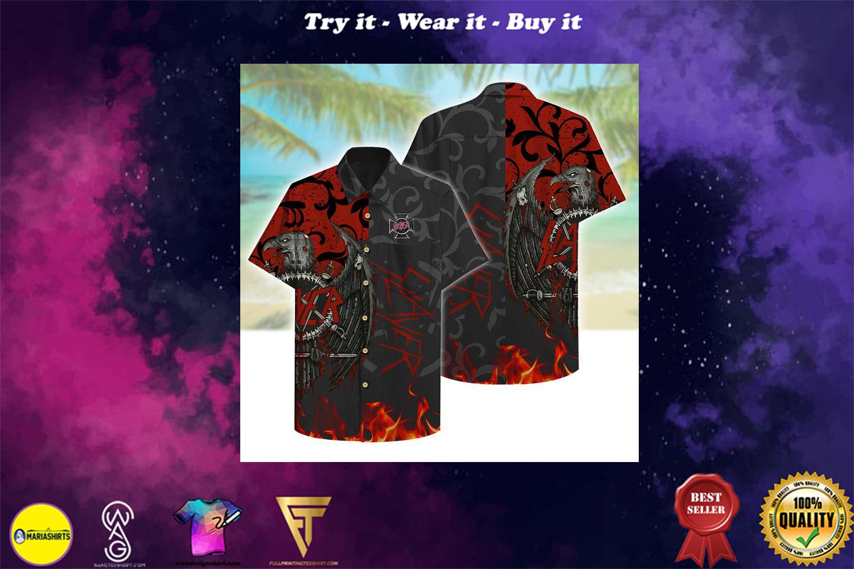 Slayer rockband aloha tropical full printing hawaiian shirt - Copy