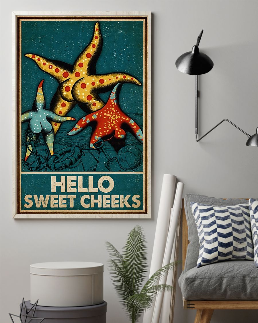 Starfish hello sweet cheek vintage poster 2