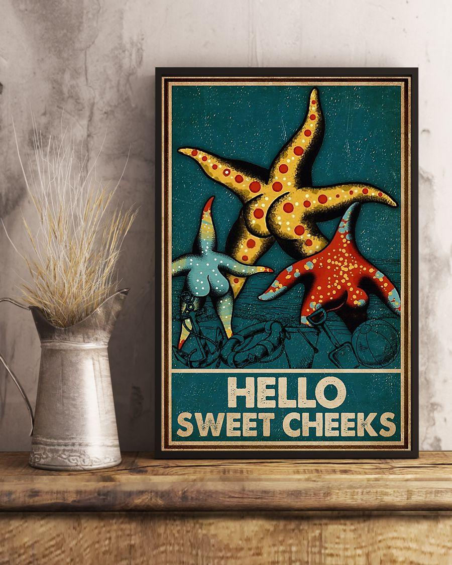Starfish hello sweet cheek vintage poster 4