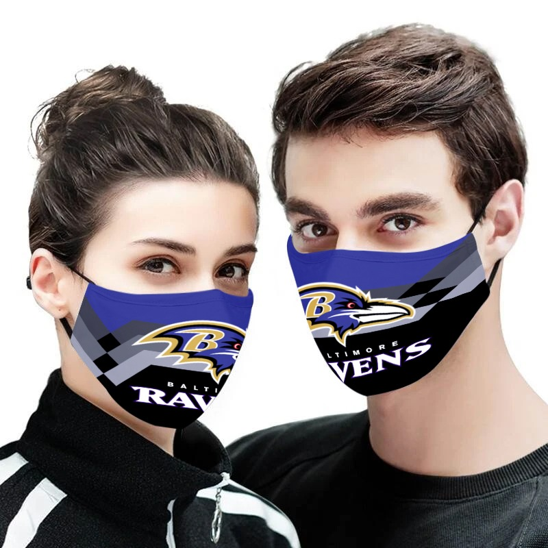 The baltimore ravens all over printed face mask 2