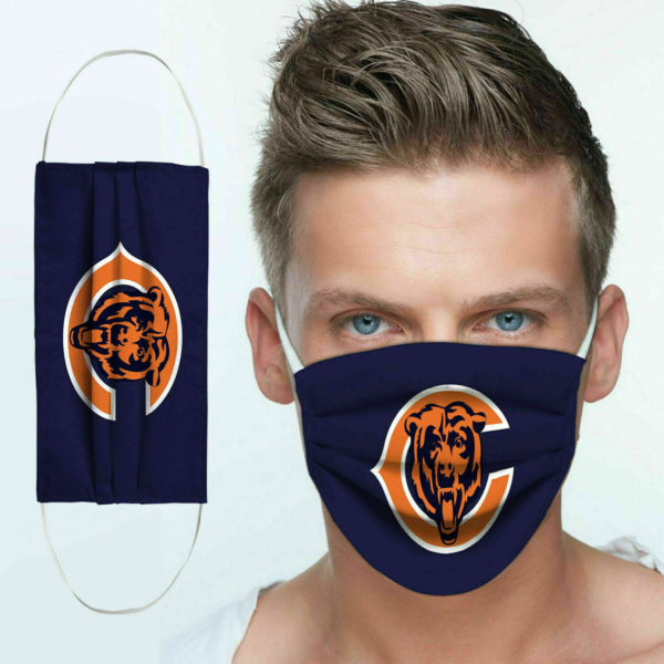 The chicago bears all over printed face mask 3