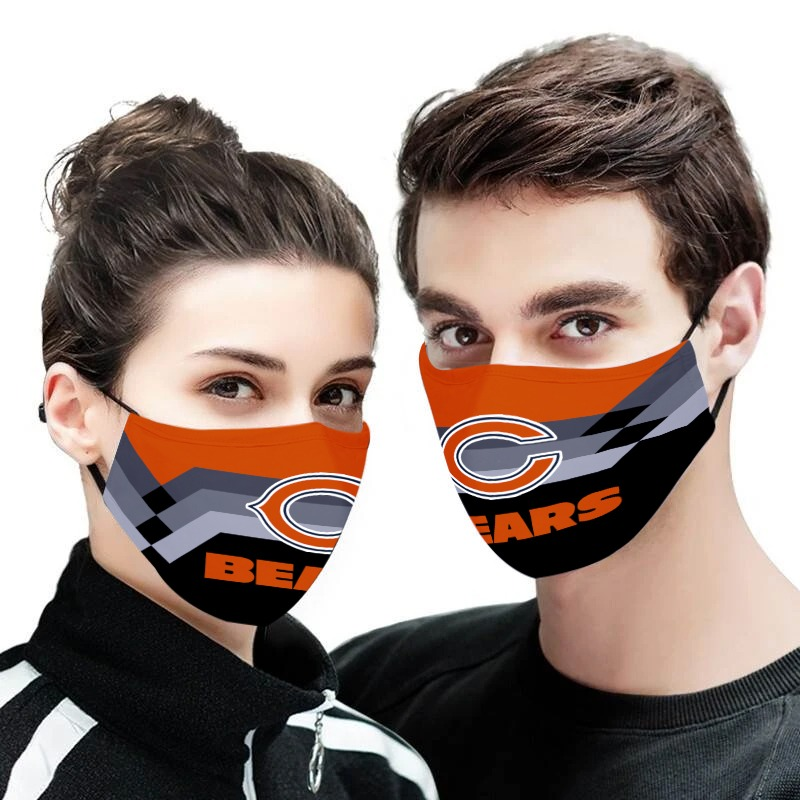 The chicago bears team all over printed face mask 3