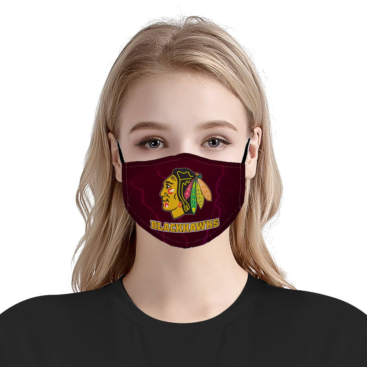 The chicago blackhawks anti pollution face mask 2