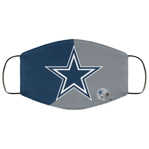 The dallas cowboys symbol all over printed face mask 4