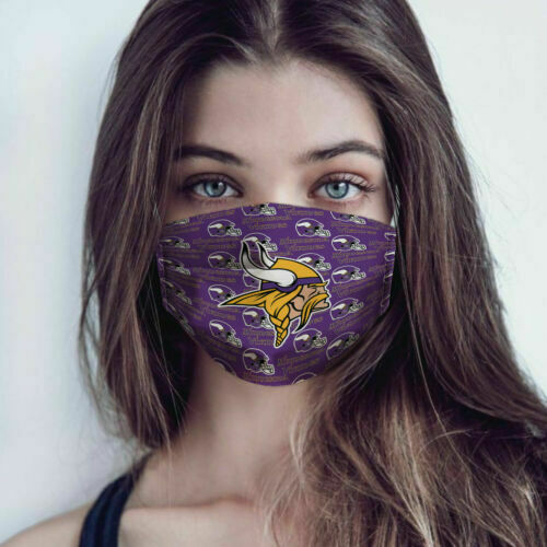 The minnesota vikings all over printed face mask 1