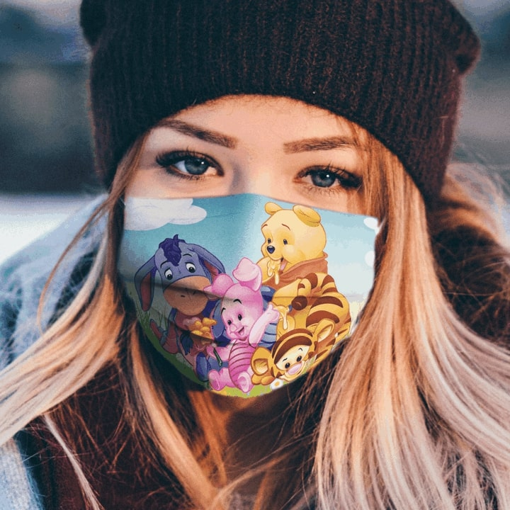 The pooh cartoon anti pollution face mask 3