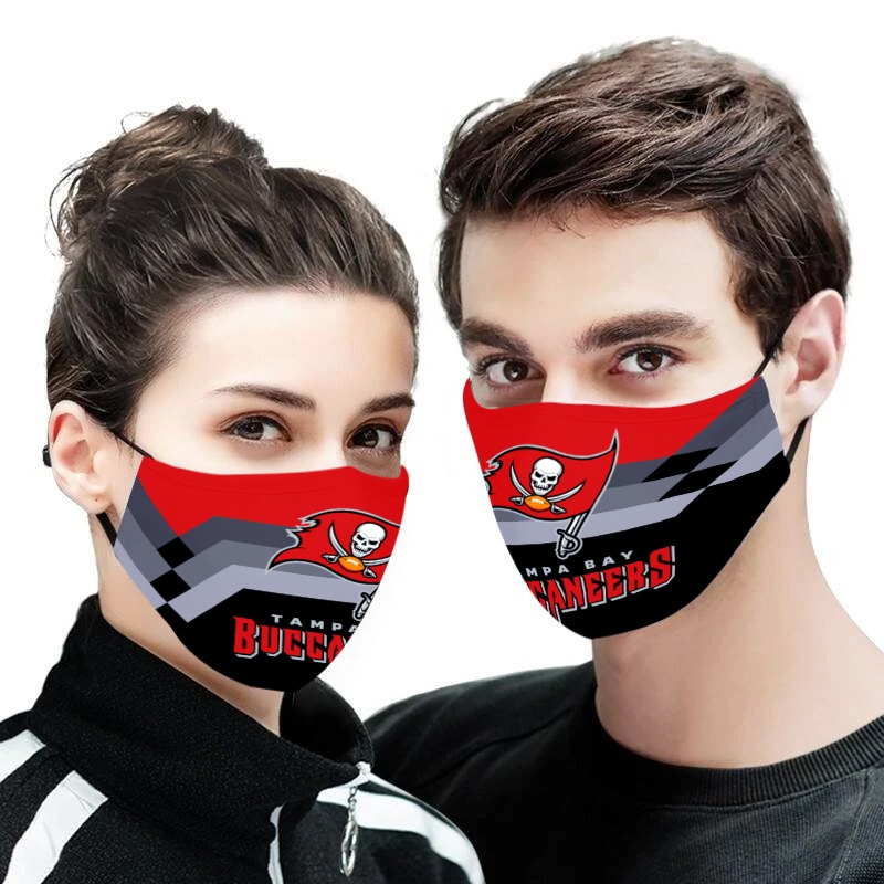 The tampa bay buccaneers anti pollution face mask 1