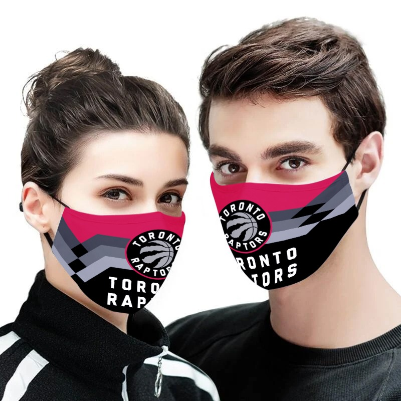 The toronto raptors nba all over printed face mask 1
