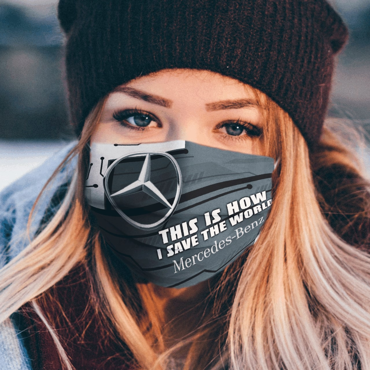 This is how i save the world mercedes-benz full printing face mask 1