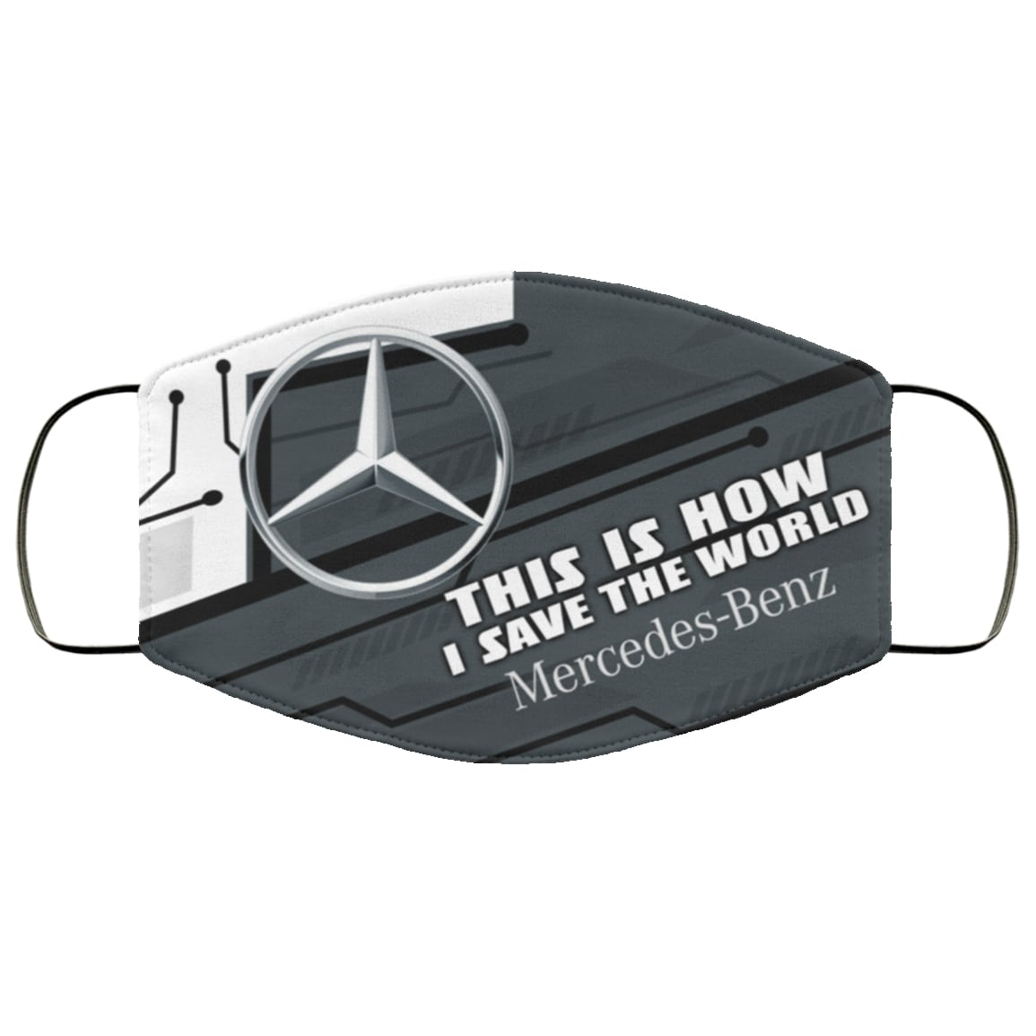 This is how i save the world mercedes-benz full printing face mask 4