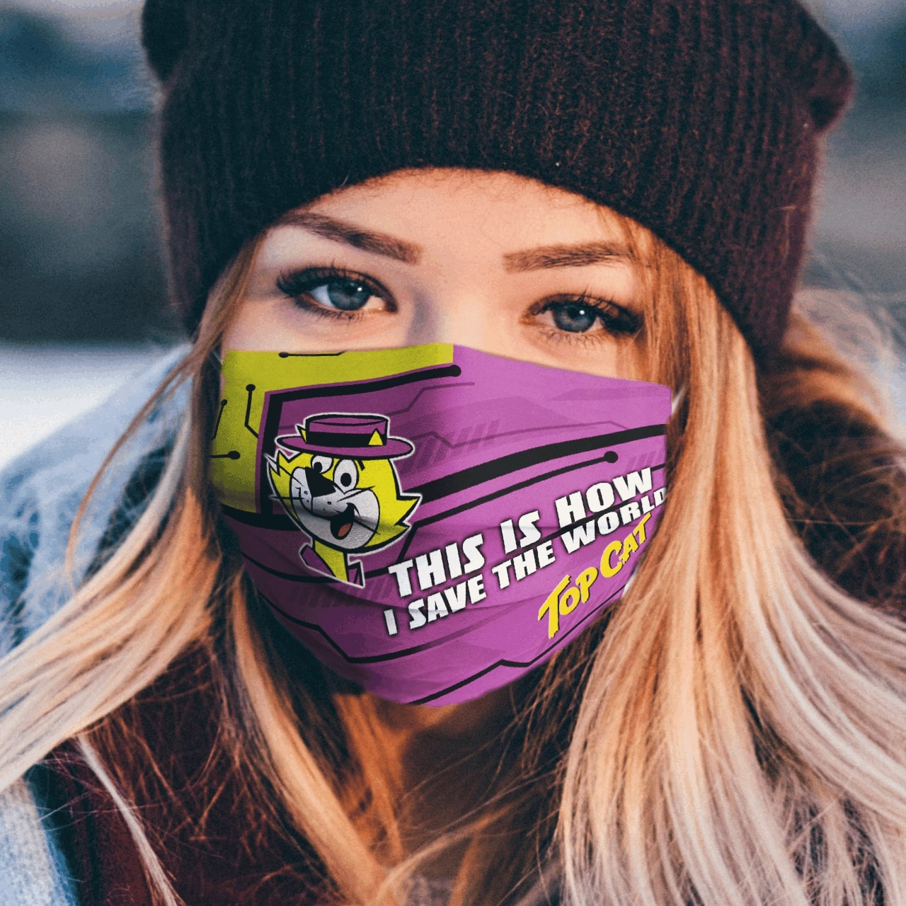 This is how i save the world top cat full printing face mask 1