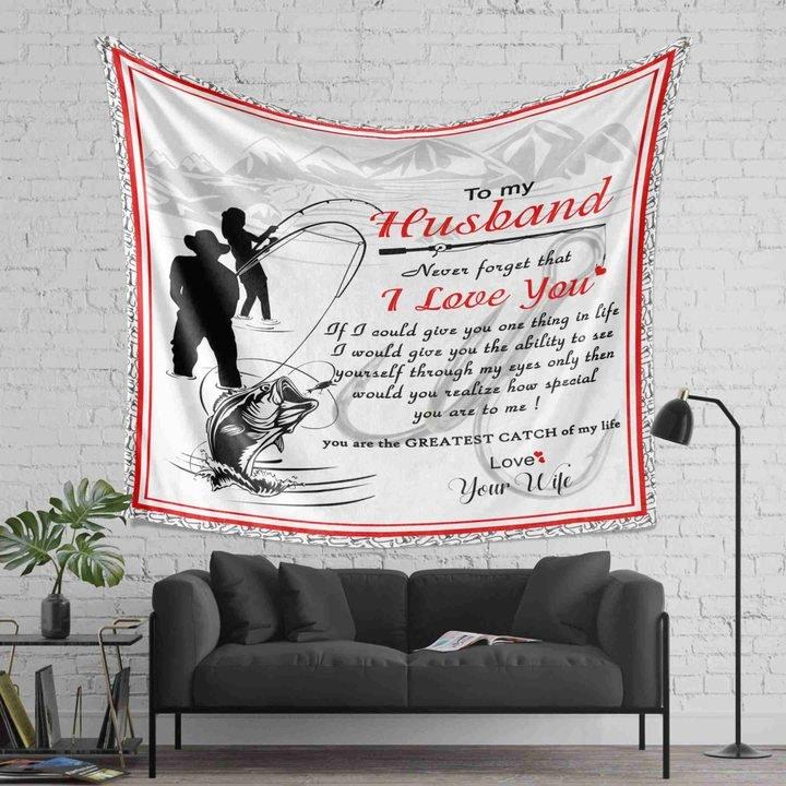 To my husband i love you fishing full printing blanket 2