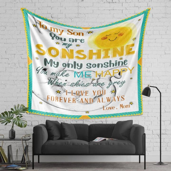 To my son you are my sonshine love mom blanket 1