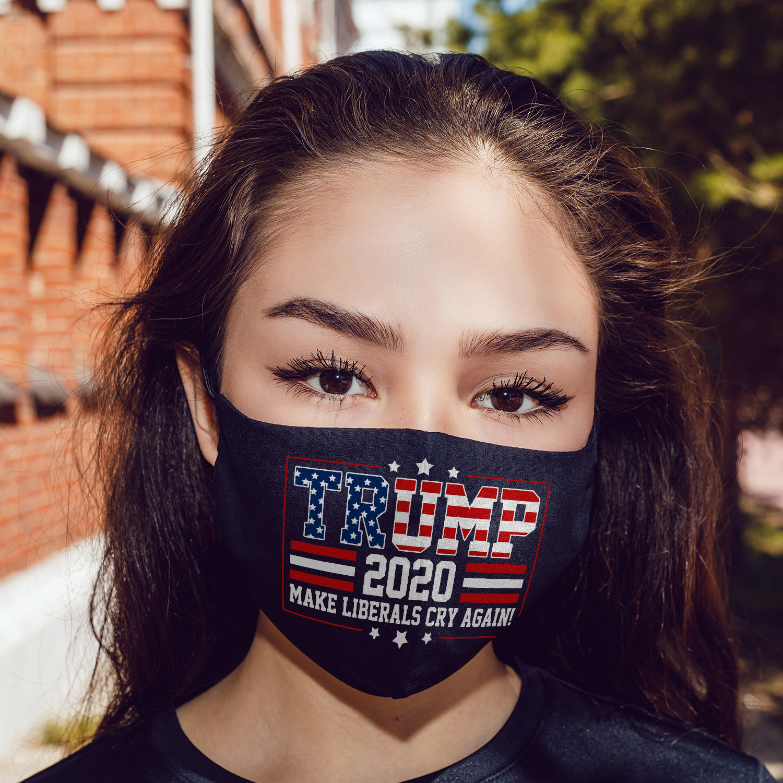 Trump 2020 make liberals cry again anti pollution face mask 4