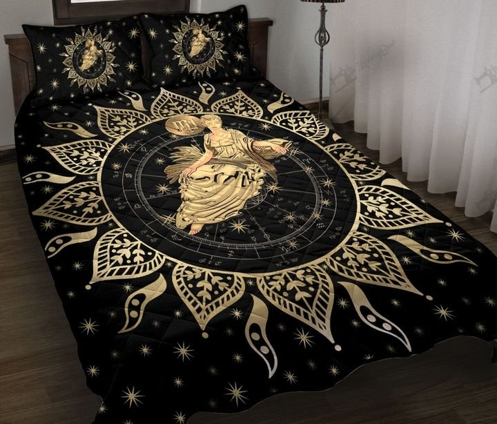 Virgo horoscope galaxy full printing quilt 1