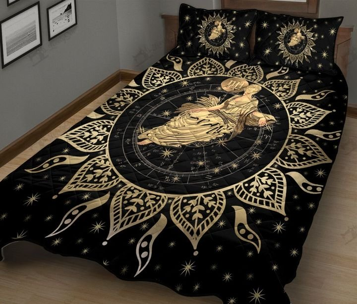 Virgo horoscope galaxy full printing quilt 3