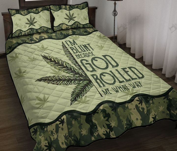Weed mandala i'm blunt because god rolled me that way quilt 2