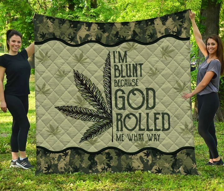 Weed mandala i'm blunt because god rolled me that way quilt 4