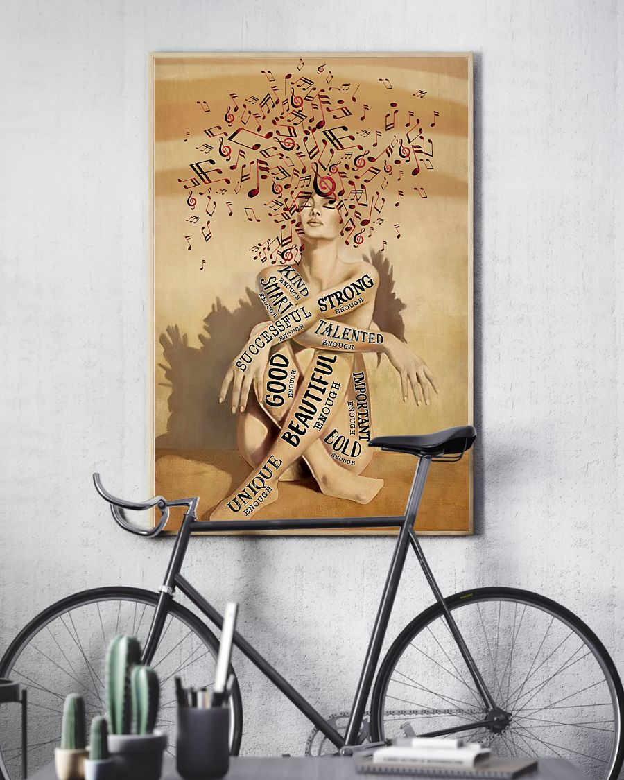 a girl and music beautiful strong smart good poster 4
