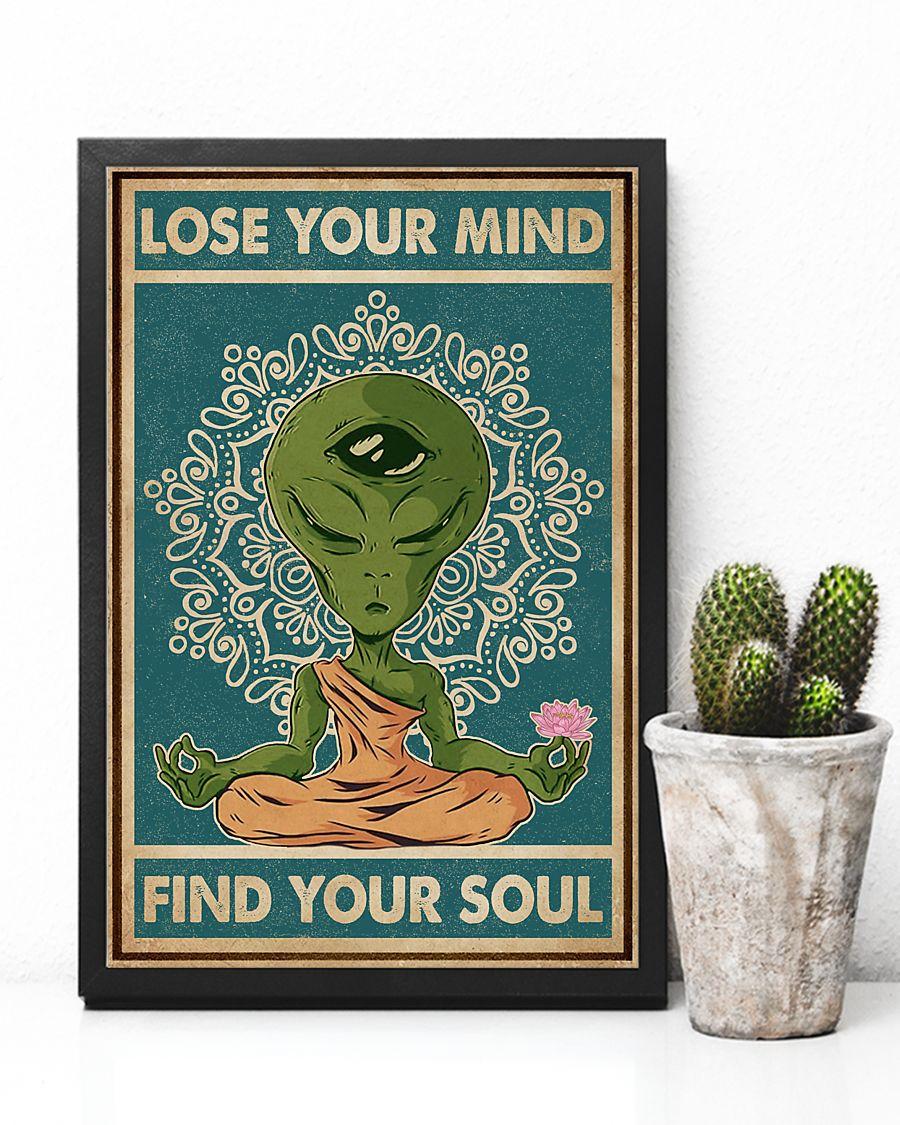 alien yoga lose your mind and find your soul vintage poster 3