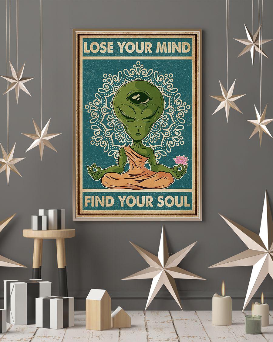 alien yoga lose your mind and find your soul vintage poster 4