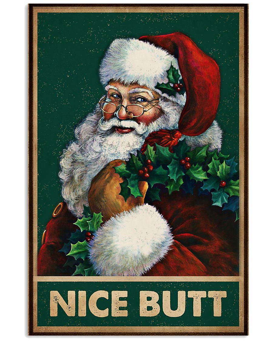 christmas santa nice butt vintage poster 1