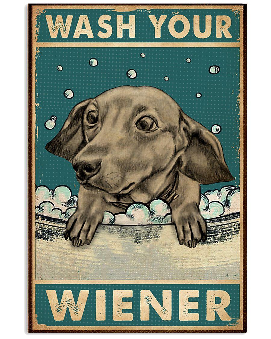 dachshund wash your wiener vintage poster 1