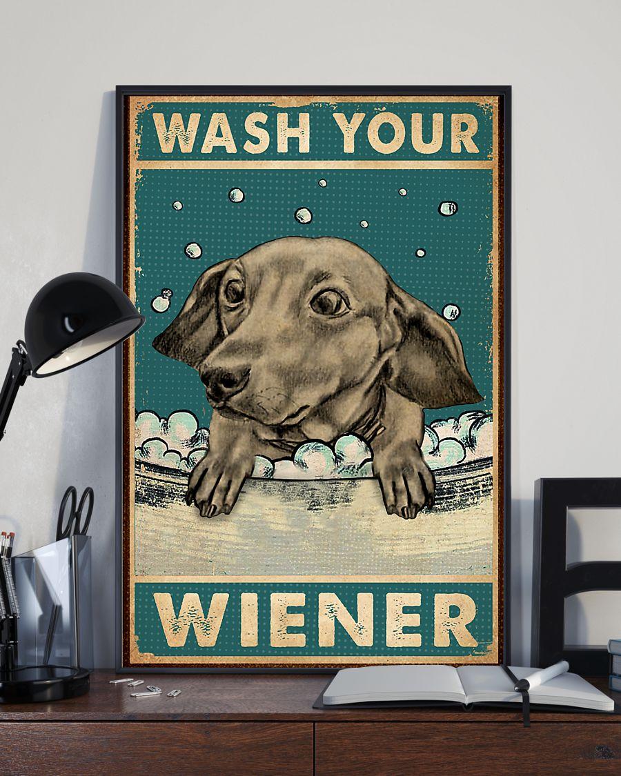 dachshund wash your wiener vintage poster 3