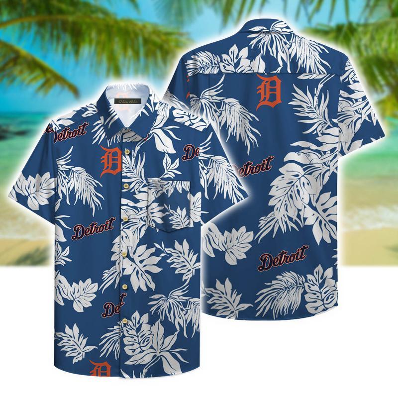detroit tigers aloha tropical full printing hawaiian shirt 1