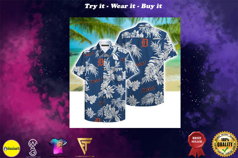 detroit tigers aloha tropical full printing hawaiian shirt - Copy