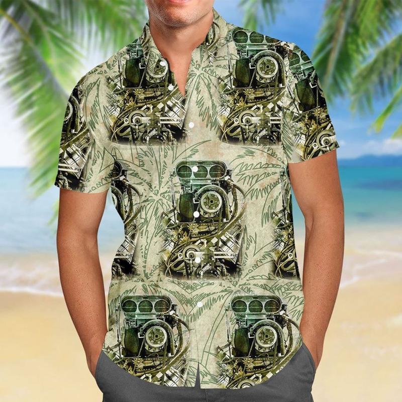 drag racing aloha tropical full printing hawaiian shirt 1