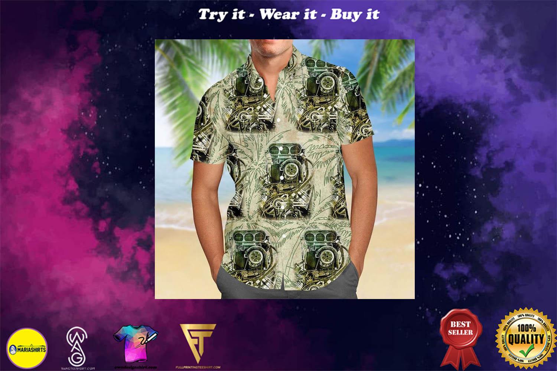 drag racing aloha tropical full printing hawaiian shirt - Copy