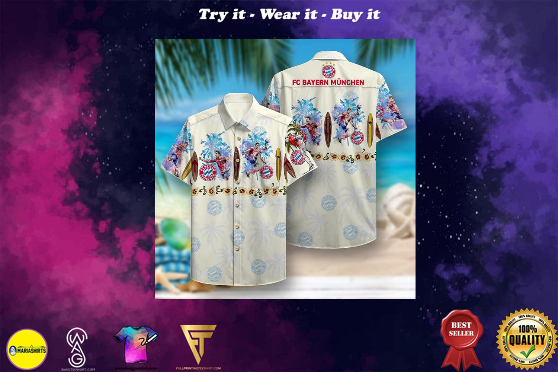 fc bayern munich aloha tropical full printing hawaiian shirt - Copy