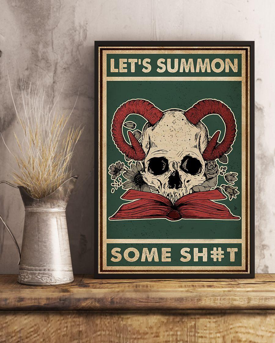halloween lets summon some shit skull devil vintage poster 3