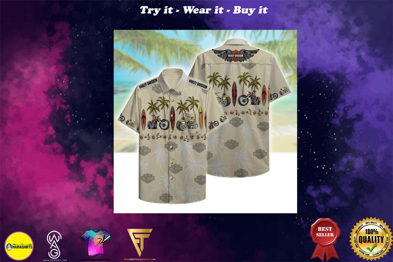 harley-davidson motorcycles full printing hawaiian shirt - Copy