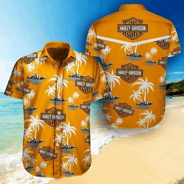 harley-davidson tropical full printing hawaiian shirt 1 - Copy