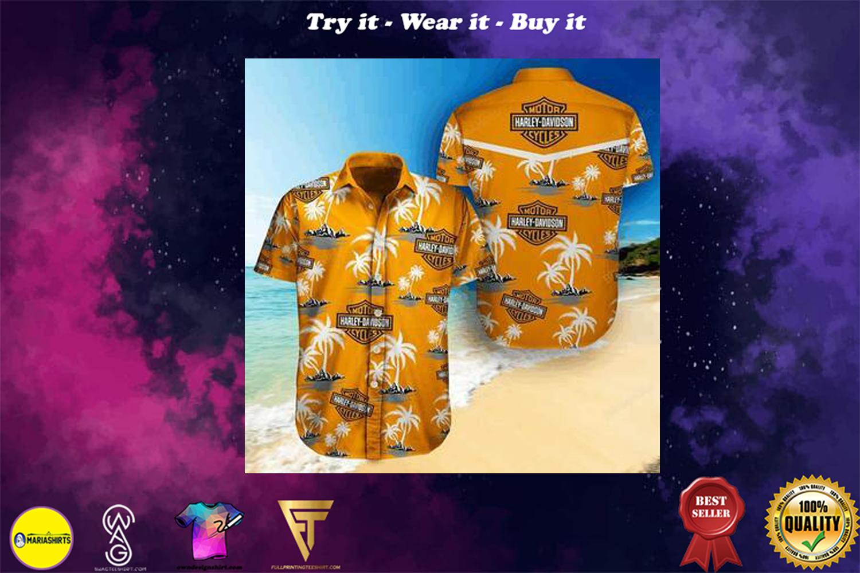 harley-davidson tropical full printing hawaiian shirt - Copy