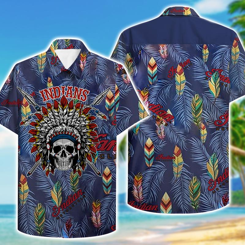 indians motorcycle aloha tropical full printing hawaiian shirt 1