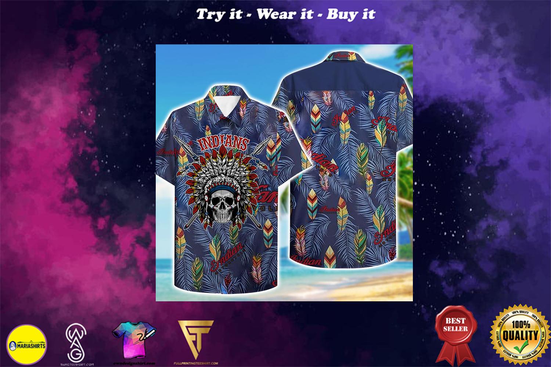 indians motorcycle aloha tropical full printing hawaiian shirt - Copy (2)