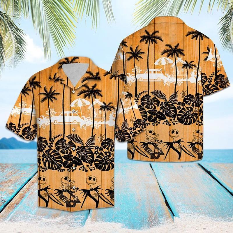 jack skellington aloha tropical full printing hawaiian shirt 1 - Copy