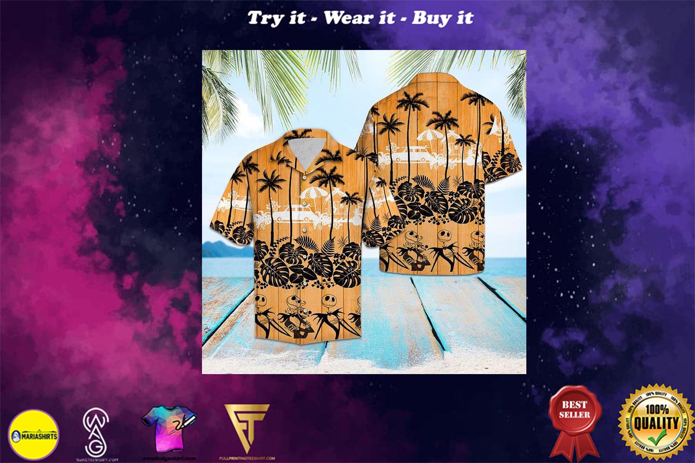 jack skellington aloha tropical full printing hawaiian shirt - Copy