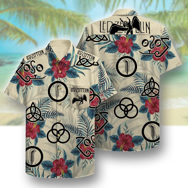led zeppelin full printing hawaiian shirt 1