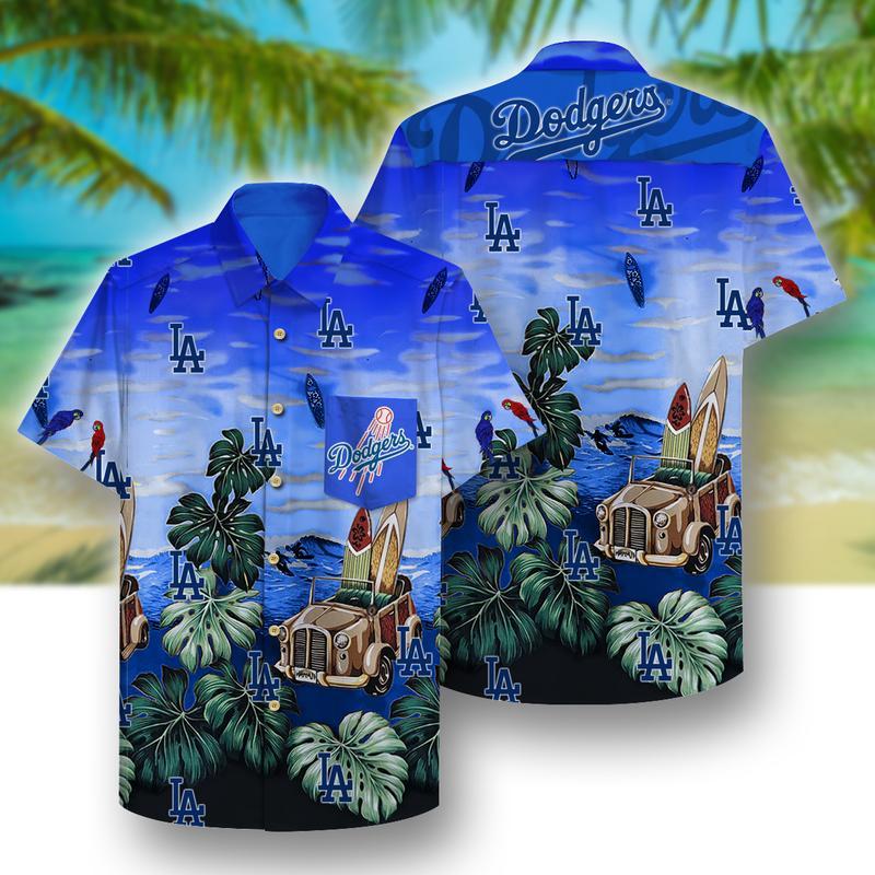 los angeles dodgers full printing hawaiian shirt 1