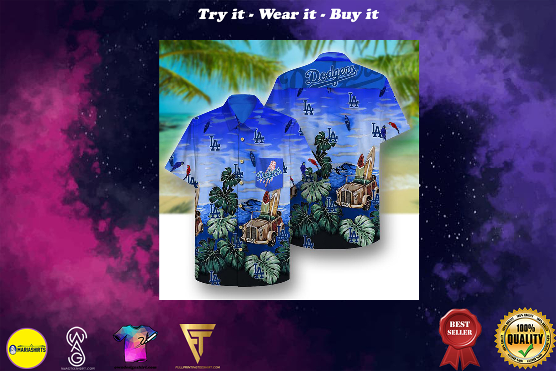 los angeles dodgers full printing hawaiian shirt - Copy (2)