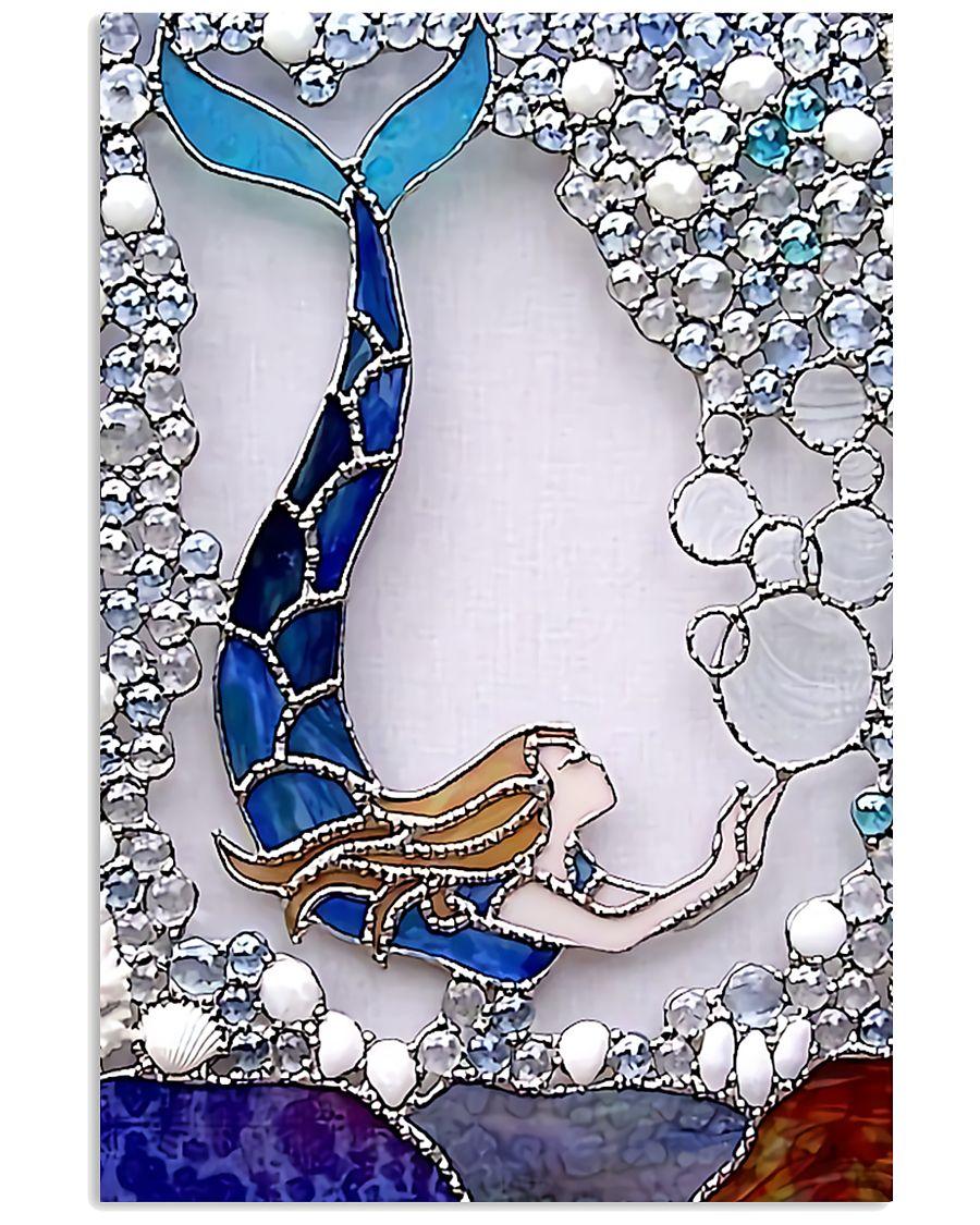 mermaid bubble vintage poster 1
