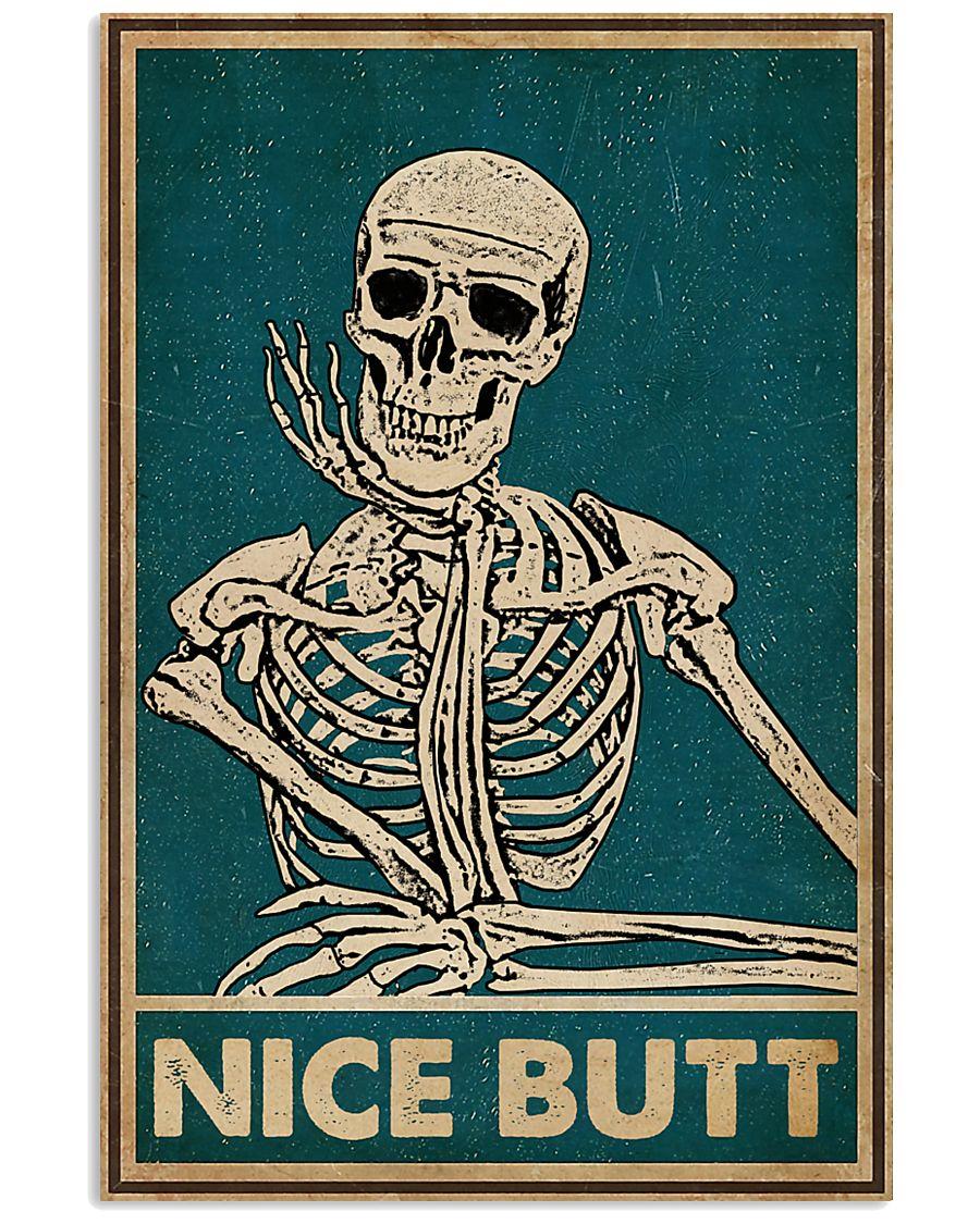 nice butt skeleton vintage poster 1