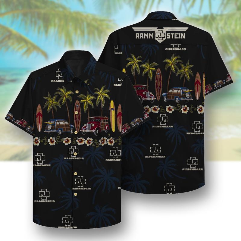 rammstein beach full printing hawaiian shirt 1